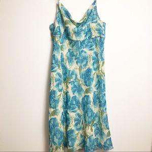 Ann Taylor Petites Sleevelss Silk Dress 10P